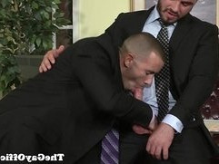 Office worker Jessy Ares bangs his boss