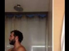 Very hot bearded guy shows off!