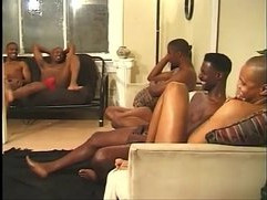 Horny studs have hot group sex