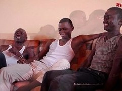 Black African Threesome Sucking Fun