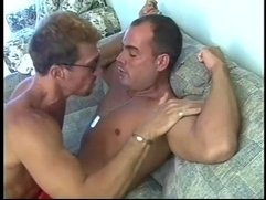 Hard bodied muscled beach lifeguards pounding ass holes on couch