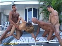 Naughty bisexual hard anal fuck sex