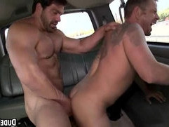 This hot tattooed straight guy gets fucked